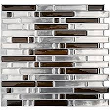 Amazoncom Artd  X  Peel And Stick Tile Kitchen Backsplash - Gray backsplash tile