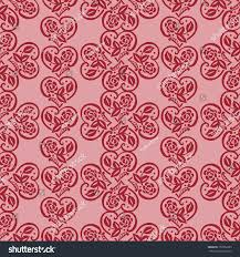 decorative wrapping paper decorative pattern hearts seamless fabric design stock vector