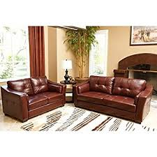Abbyson Living Leather Sofa Amazon Com Abbyson Living Torrance 2 Piece Leather Sofa Set In