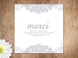 remerciement mariage original la carte de remerciements mariage dentelle est un modèle de