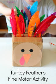 how to make turkey feathers feed the turkey counting activity
