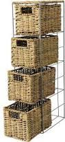 Bathroom Basket Storage Wicker Vegetable Basket Tower Small Wicker Basket Tower Wicker