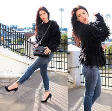 black fringe sweater 3 1 phillip lim black intarsia fringe sweater j