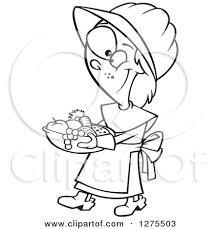 clipart of a black and white happy thanksgiving pilgrim