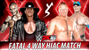 wwe 2k16 ps4 british bulldog vs x pac vs rikishi full match wwe 2k16 fatal 4 way hell in a cell match youtube