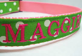 embroidered collar personalized collar