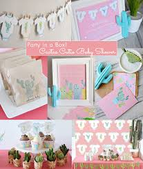 baby shower kits cactus cutie baby shower complete party in a box printable pdf