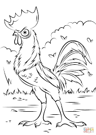heihei rooster from moana coloring page free printable coloring