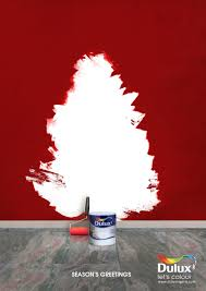 dulux print advert by dentsu 3d finish orange ads of the world