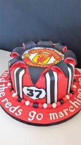 manchester united bespoke birthday cake 40th pinterest