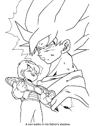 coloring page animaatjes dragon ball z 2130698