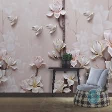 find more wallpapers information about embossed yulan magnolia find more wallpapers information about embossed yulan magnolia flower photo mural wallpapers living room walls art