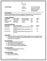 Sample Resume For Bank Jobs For Freshers by Sample Template Of An Excellent Company Secretary Resume Sample