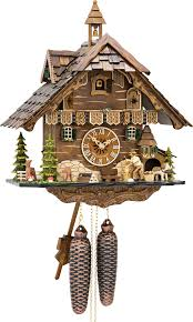 Regula Cuckoo Clock Cuckoo Clock 8 Day Movement Chalet Style 42cm By Engstler 4831 8