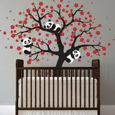 Cherry Blossom Tree Wall Decal For Nursery Panda And Cherry Blossom Tree Wall Deca Cherry Blossom Tree Decal