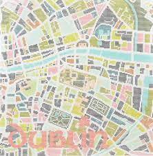 Map Tapestry Contemporary Dublin City Map Tapestry Kit By Hannah Bass