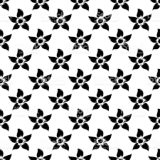 black and white floral ornaments seamless pattern stock vector