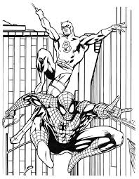 batman and spiderman coloring pagesfree coloring pages for kids