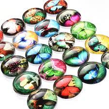 aliexpress com buy 10pcs mix dome round butterfly photo glass