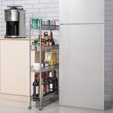 kitchen storage cupboard on wheels zimtown 4 tier gap kitchen slim slide out storage tower rack with wheels cupboard