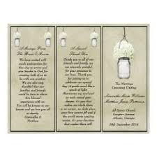jar wedding programs rustic baby s breath jar wedding programs wedding favs