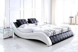 faux leather bed frame with storage king size real room white uk
