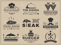logo insignia design for restaurant steak house wine burger