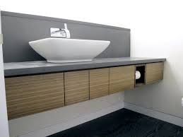 Small Bathroom Cabinet by White Granite Top And Bowl Sink On Floating Vanity With Single