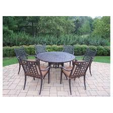 Aluminum Dining Room Chairs Rosemont 7 Piece Aluminum Dining Furniture Set Target