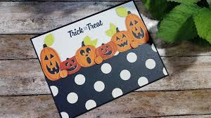 kids in mind the stampin b halloween pumpkin card