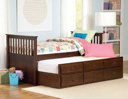 Toddler Bedroom Furniture by Bedroom Pretty White Trundle Bed With Three Drawers For Kids
