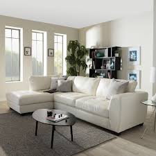 Contemporary Sectional Sofa With Chaise Amazon Com Baxton Studio Orland Leather Modern Sectional Sofa Set