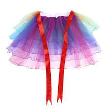 Lady Rainbow Rok girls Berlapis Tutu Pikuk Dancing Panjang Ekor
