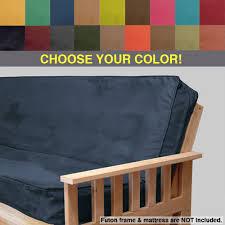 full size futon plush micro suede full size futon covers