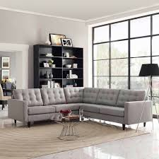 3 Piece Reclining Sectional Sofa by Modway Empress 3 Piece Fabric Sectional Sofa Set Multiple Colors
