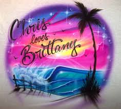 airbrushed names designs for couples airbrush apparel