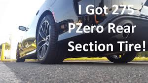 Dodge Challenger Tire Size - i got 275 rear section tires on my pack youtube