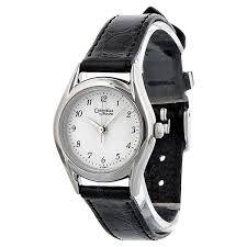 bulova watches ladies bracelet images Caravelle by bulova silver dial black leather ladies watch 47e02 jpg