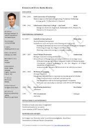 ece resume format it resume cover letter sample