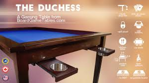 Kickstarter Gaming Desk The Duchess A Gaming Table From Boardgametables By Chad
