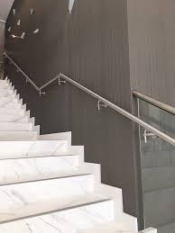 commercial glass railing stainless steel elements bella stairs