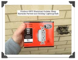 outdoor light with gfci outlet outdoor gfci electrical outlets keep karaoke parties and holiday