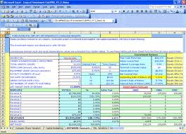Estate Investment Spreadsheet Template by Investment Calc Npv Irr Analysis Millennium Model Advisor