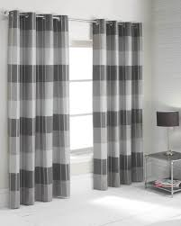 curtains charming three gray and white horizontal striped with
