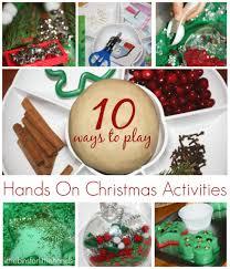 christmas sensory bin sand and ornament sensory play