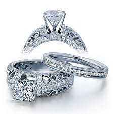 cheap wedding rings sets certified 2 carat princess cut diamond vintage wedding ring