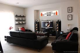 Best Speakers For Living Room Living Room Tv Setup Wood Lacquered Table Or Desk Black Television