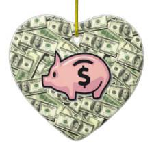 money ornaments for finance cpa cfp