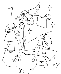 coloring picture angel gabriel mary coloring pages