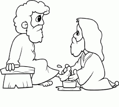 jesus washes the disciples feet coloring page cecilymae